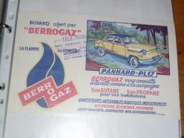 BUVARD COLLECTION   BERROGAZ  Gaz Butane  - Série Automobiles PANHARD PL17 - Electricité & Gaz