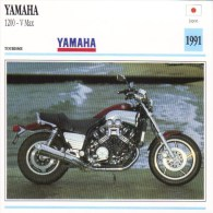 Yamaha 1200 V Max   -  1991     -  Fiche Technique Moto (Japon) - Motorcycle Japan - Picture Cards