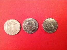 LOT De 3 Pieces 1F 1960-88-92 SUP Voir Détail - Monedas & Billetes