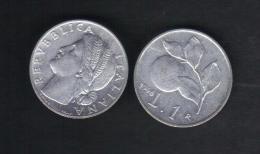 RedE - REPUBBLICA , 1 Lira Emissione Del 1948.Arancio - 1946-… : Repubblica