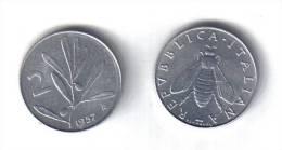 RedH - REPUBBLICA 1957 , 2 Lira APE . SPL - 1946-… : Repubblica