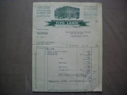 PARIS ETABLISSEMENTS TITO LANDI LAMPES & RECHAUDS A INCANDESCENCE 38 Bd HENRI IV FACTURE DU 10 OCTOBRE 1955 - Electricité & Gaz