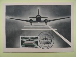 CARTE MAXIMUM CARD JOURNEE DU TIMBRE DOUGLAS DC-3 PARIS FRANCE - Vliegtuigen