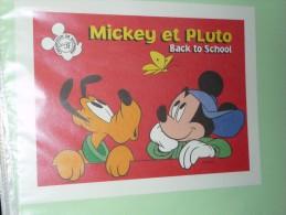 BUVARD COLLECTION N°31 MICKEY PLUTO Ecole  BACK TO SCHOOL DISNEY - Papelería