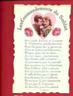 HAS-01 Les Commandements Du Soldat Avec En Médaillon Photo Avec Un Couple.  Circulé Sous Enveloppe.Légère Plissure - Couples