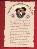 HAS-05 Militaire, Commandements Du Soldat, Médaillon Photo Avec Un Couple.  Circulé Sous Enveloppe. - Couples