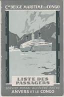Cie BELGE MARITIME Du CONGO - Liste Des Passagers De L'Albertville Départ Le 19 Juin 1929 En Destination Anvers - Brrrrr - Documents Historiques