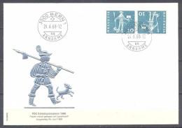 Suisse FDC Enveloppe Premier Jour YT N°644b Messager De Schwyz (paire Tete-bêche) - FDC