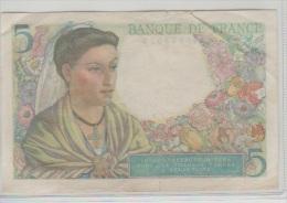 Billets De La Banque De France Banque De France, Billet, 5 Francs Berger, 5.04.1945 - - 1871-1952 Anciens Francs Circulés Au XXème