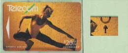 """New Zealand - 1992 Winter Sport - $20 Aerobics - """"Wall"""" Flaw - FU - NZ-G-53a - New Zealand"""