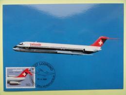 CARTE MAXIMUM CARD DOUGLAS DC-9 SWISSAIR SUISSE - Aerei