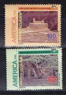 AMERICA UPAEP ARCHAEOLOGY ANCIENT CITY & NATIVE ETHNIC ECUADOR MNH Stamp #1258-9 - Ecuador