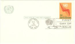 ONU - NAZIONI UNITE - UNITED NATIONS - NATIONS UNIES – 1972 - 9c - Air Mail - Carte Postale - Postal Card - Int... - New York - Sede Centrale Delle NU