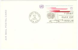 ONU - NAZIONI UNITE - UNITED NATIONS - NATIONS UNIES – 1972 - 15c - Air Mail - Carte Postale - Postal Card - In... - New York - Sede Centrale Delle NU