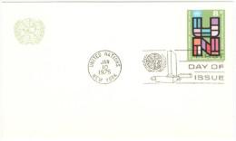 ONU - NAZIONI UNITE - UNITED NATIONS - NATIONS UNIES – 1975 - 8c - Carte Postale - Postal Card - Intero Postale... - New York - Sede Centrale Delle NU