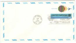 ONU - NAZIONI UNITE - UNITED NATIONS - NATIONS UNIES – 1975 - 13c - Air Mail - Letter - Intero Postale - Entier... - New York - Sede Centrale Delle NU