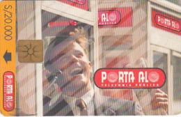 ECUADOR - Man On Phone/Calendar 1998($20000, Reverse B), Chip GEM1a, Used