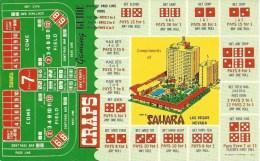 Sahara Casino Las Vegas - Craps Rules @1961 - Las Vegas