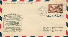 1938   Prince George BC To Germansen Landing BC - Premiers Vols