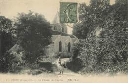 """/ CPA FRANCE 78 """"Issou, Le Chemin De L'église"""" - France"""