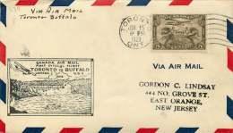 1929   Toronto ON  To Buffalo NY USA - Erst- U. Sonderflugbriefe