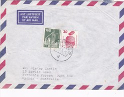 Germany 1975 Cover Sent To Australia. 30pf And 160pf,stamps - [7] Federal Republic
