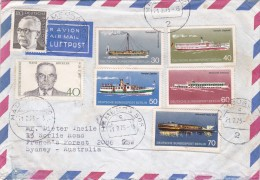Germany 1975 Cover Sent To Australia. Transports And Other,stamps - [7] Federal Republic