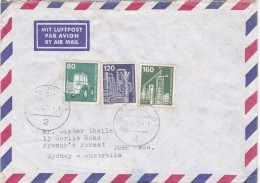 Germany 1975 On  Cover Sent To Australia.with 80pf,120pf And 160pf Industry - [7] Federal Republic