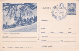 Romania 1967 Souvenir Postcard,Sinaia Castelul Muzez Peles - Covers & Documents