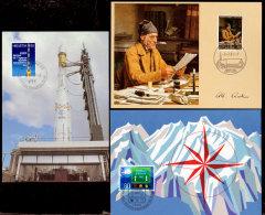 Switzerland, 1979/1980, Scott 680, 693, 696, 3 First Day Of Issue Postcards - Switzerland