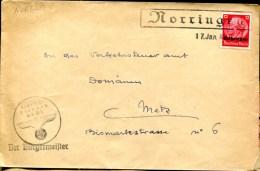 81188 - OCCUPATION ALLEMANDE - 1 TP Surchargé LORRAINE Cachet NORRINGEN Janv 1941 Avec Cachet TB - Militaria