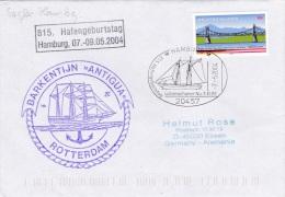 Ships:  Barkentijn Antigua From Rotterdam - Hafengeburtstag P/m Hamburg 2004 (G78-3) - Ships