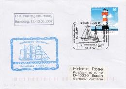 Ships: Barkentine Atlantis From Hoorn - Hafengeburtstag P/m Hamburg 2007 (G78-3) - Ships