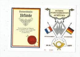 Allemagne , Städte-Partnerschaft , Jumelage , CHATEAUROUX GÜTERSLOH , 1977 , N° 1160 , 2 Scans , Frais Fr : 1.30€ - BRD