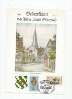 Allemagne , Gedenfblatt , 1825-1975 , 150 Jahre Stadt GÜTERSLOH , Alter Domhof , Illustrateur Signé , Frais Fr : 1.30€ - [7] République Fédérale