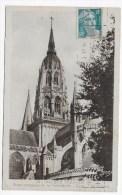 BAYEUX - N° 19 - TOUR OCTOGONE DE LA CATHEDRALE - CARTE FORMAT CPA VOYAGEE - Bayeux