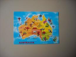 AUSTRALIE CARTE MAP - Australia