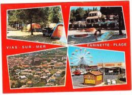 Vias-sur-Mer: SIMCA MATRA RANCHO, CITROËN GS, 2CV, RENAULT 4 - MINI-GOLF - Farinette-Plage-  (Languedoc, France) - Toerisme