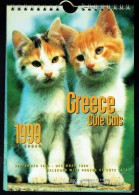 """Calendrier """" CHATS """" -  1999 - Made In Greece. - Calendriers"""