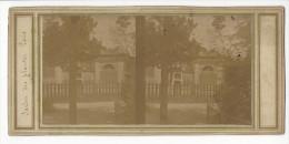 PHOTO STEREO PARIS JARDIN DES PLANTES VERS 1855 / FREE SHIPPING REGISTERED - Stereoscopio