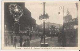 BOLOGNA -PIAZZA V.E. ILLUMINATA IN OCCASIONE DEL IX CONGRESSO EUCARISTICO-TRAM    -FP - Bologna