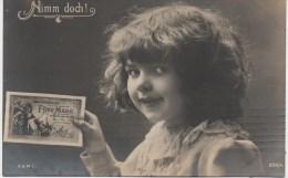 BILLET SUR CARTE POSTALE   NIMM DOCH    FUNF MARK - [ 2] 1871-1918 : Duitse Rijk