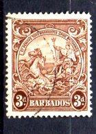 Y1066 - BARBADOS , Gibbons N. 252 Dent 13 1/2 X 13 Usato - Barbados (...-1966)