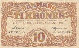 Danmark - 10 Ti Kroner 1939 - Danemark