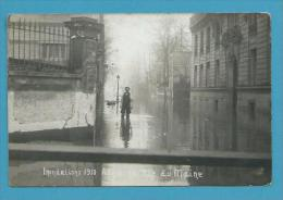 CPA PHOTO - Inondations 1910 Rue Du Maine ASNIERES 92 - Asnieres Sur Seine