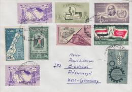 Enveloppe   EGYPTE    Timbres   1959  -  1960 - Égypte