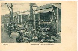 Vietnam Indochine Cochinchine Carte Postale Saigon Annamitische Lebensmittelverkaufer Neuve Non Divise BE - Vietnam