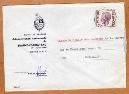 Enveloppe Brief Cover Administration Communale De Braine-le-Chateau - Covers & Documents
