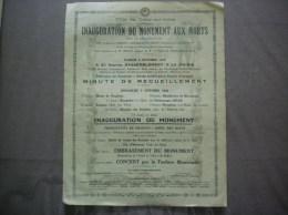 CRECY SUR SERRE INAUGURATION DU MONUMENT AUX MORTS LE 6 OCTOBRE 1923 GENERAUX MANGIN DEVILLE DAYDREIN LIBERATEURS LISTE - Documents Historiques