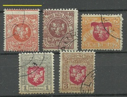 LITAUEN Lithuania 1919 = 5 Werte Aus Michel 30 - 39 Incl Perforation ERROR Abart O - Lithuania